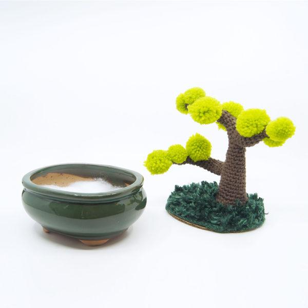 crocheted bonzai tree