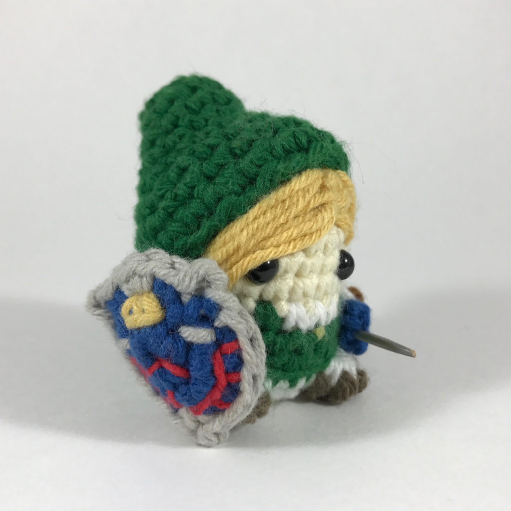 Crocheted Link from Legend of Zelda