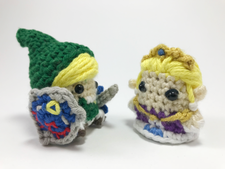 Crocheted Link and Zelda