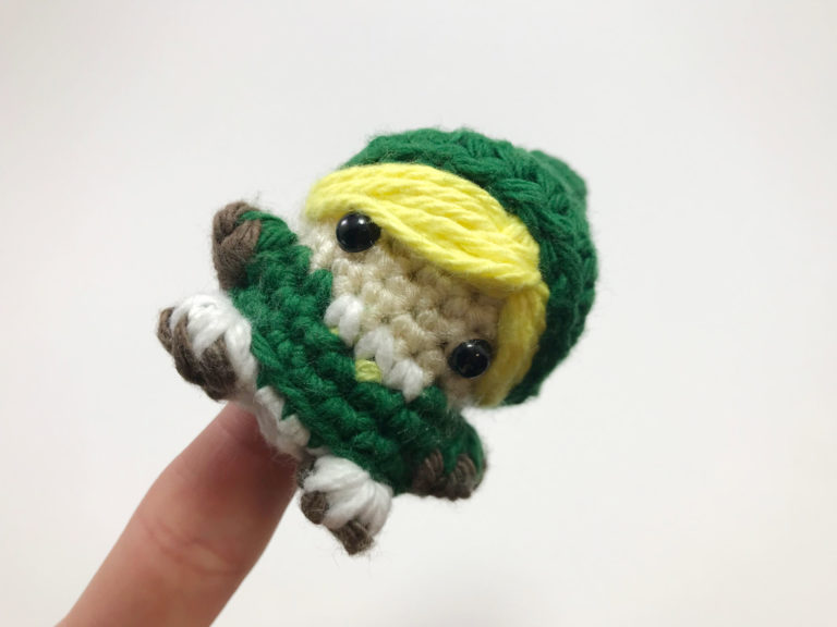 Crocheted Link Finger Puppet