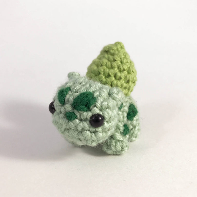 crocheted bulbasaur