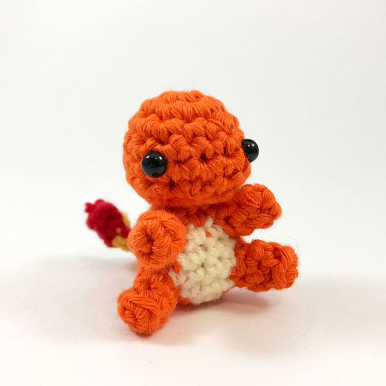 crocheted charmander