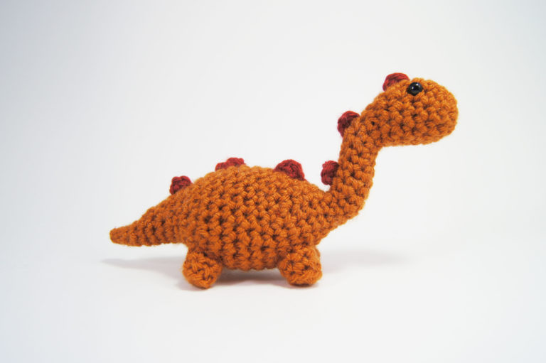 crocheted dinosaur