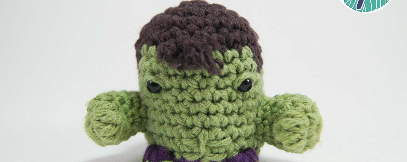 Hulk Amigurumi Pod Puppet
