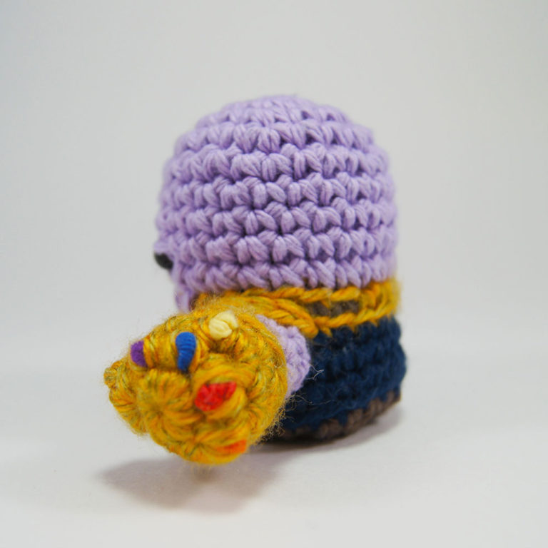 crocheted thanos