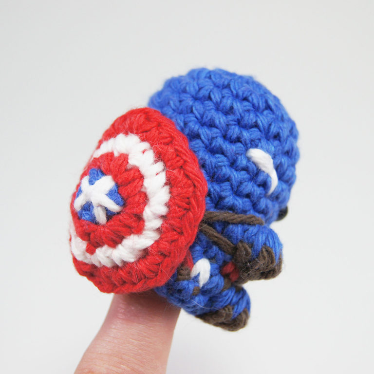 crocheted captain america