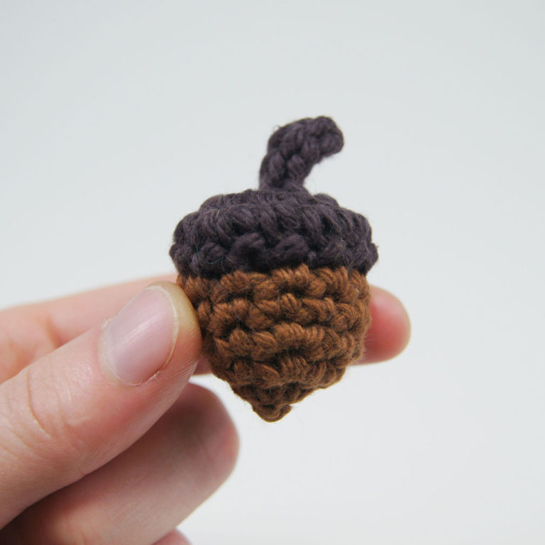 crocheted acorn