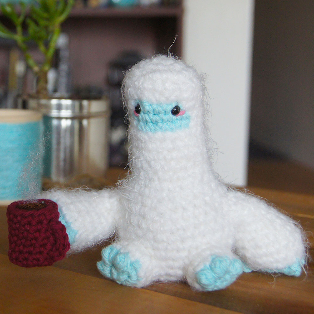 crocheted yeti