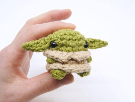 crocheted baby yoda