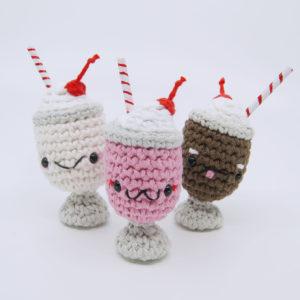 crocheted milkshake