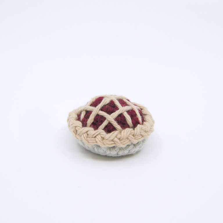 crocheted pie