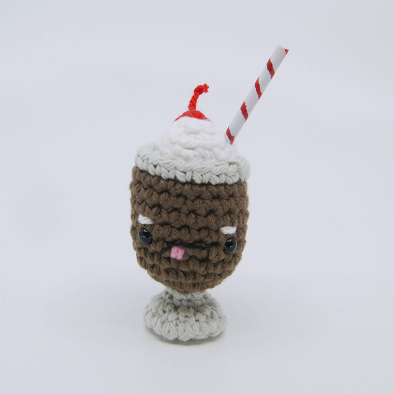 crocheted milkshake