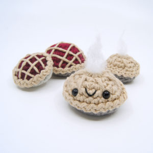 crocheted pies