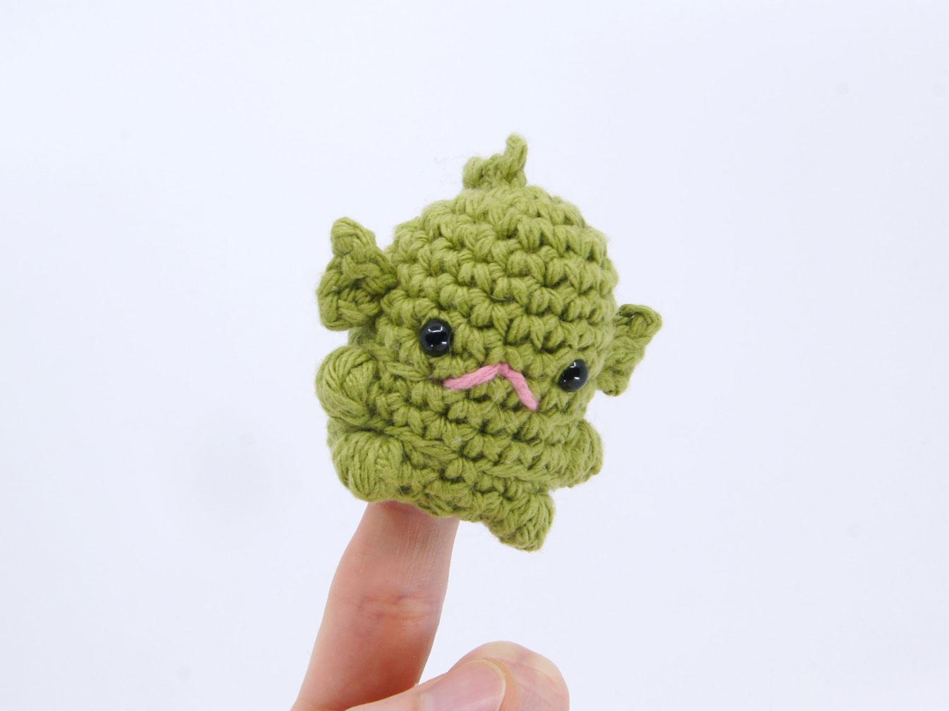 Swamp Monster Amigurumi Pod Person