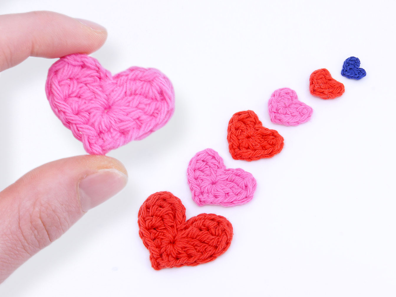 Miniature Flat Heart Crochet Pattern